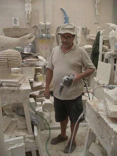 Die Werkstatt in Pietrasanta
