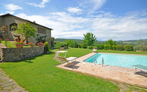 Villa Giulia, Villa for rent in Pancole, Tuscany