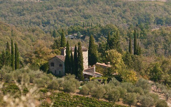 Villa Casavecchia in  Volpaia -Toskana