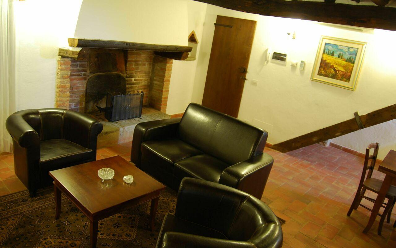 livingroom with original 1760 fire place