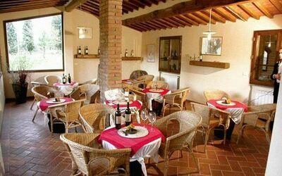 Romignano: wine tasting room