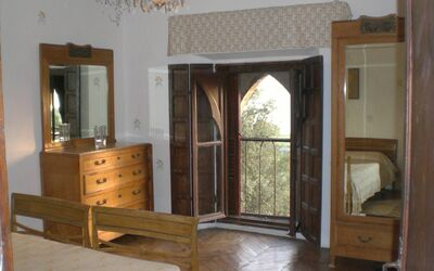 Borgia Castle: Bedroom second floor overlooking the Trasimeno lake
