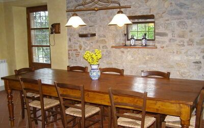 Villa Gallo Nero: Partial view of the dining room (up to 12 people)
