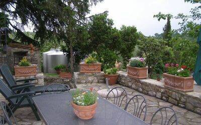 Villa Gallo Nero: Partial patio view and outdoors dining table