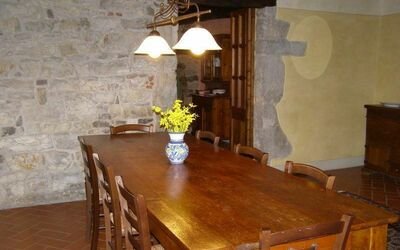 Villa Gallo Nero: Partial view of the dining room in the ground floor