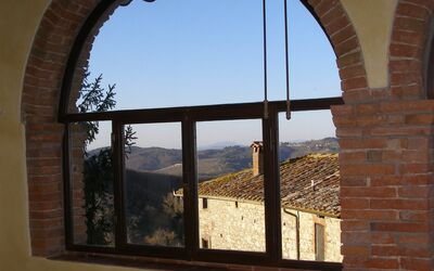 Villa Gallo Nero: View from one of the house windows