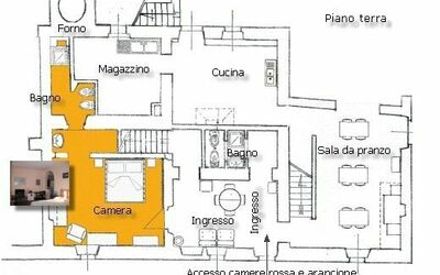 Fattoria Le Poggiola: ground floor map