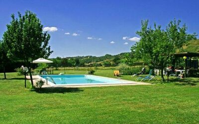 Il Casolare: large lawn (5.000 sqm) with swimming pool. mt. 6x12
