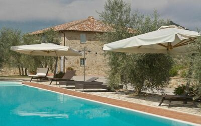 Villa Casanova: A dip in our capacious pool is a great way to cool down after sunbathing.