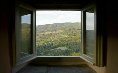 Apt La Civetta: View from Civetta bedroom