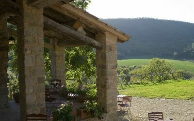 Podere Torremozza: Enjoy a glass of Chianti on the terrace and watch the sunset
