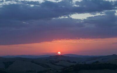 La Casa Del Sole Di Siena: The sunset from the terrace