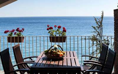 Alessia: Terrace with Sea Views