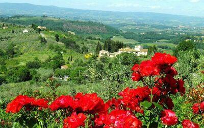 Belvedere: view on Elsa valley