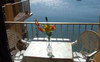 Cefalù Sul Mare: balcony with sea view