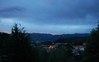 The Nest In Garfagnana: Vista panoramica al tramonto