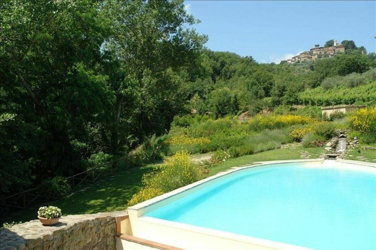 view of Montegonzi from the pool