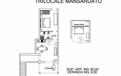 Trilocale Mansardato 231m