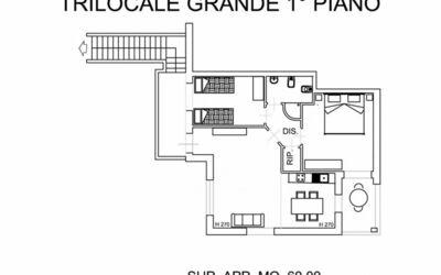 Trilocale Grande Primo Piano 331v