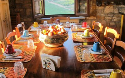 Le Querciole Del Chianti Countryhouse: Kitchen table