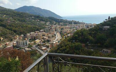 Villa Pia: Veduta panoramica vista dal terrazzo della camera da letto