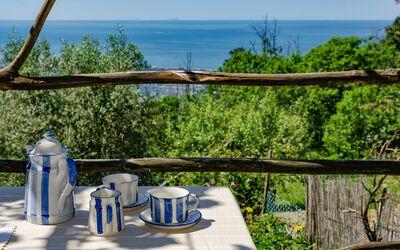 L'olivo Sul Mare: Frühstück mit blick auf die Versiliaküste