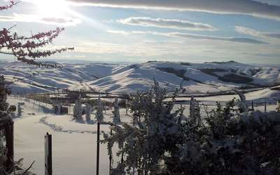 Appartamento Il Nido Di Giulia: Julia's cottage overlooking the Hills with snow