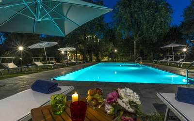 Villa Ivana - Cortona: Swimming Pool at night