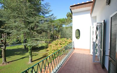 Villa Perchessì: View on Garden of the holiday villa