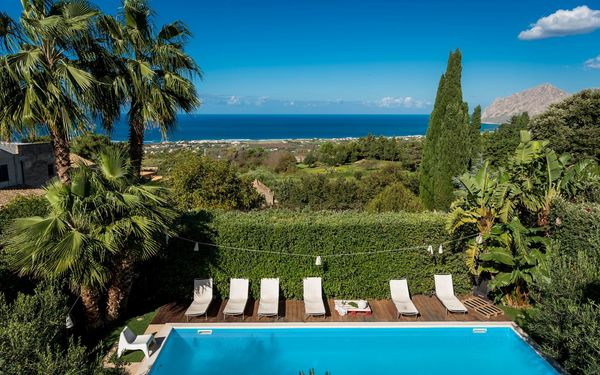 Villa Valderice, Villa for rent in Valderice, Sicily