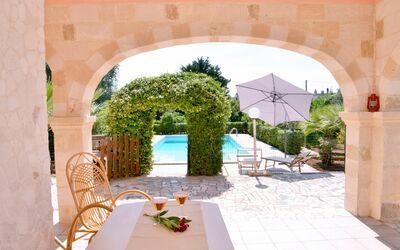 Villa Lidia Con Piscina: Veranda vista piscina
