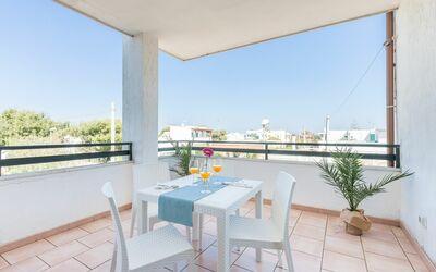 Appartamento Panorama Sul Mare: Veranda posteriore