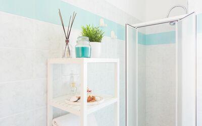 Appartamento Panorama Sul Mare: Bagno con doccia