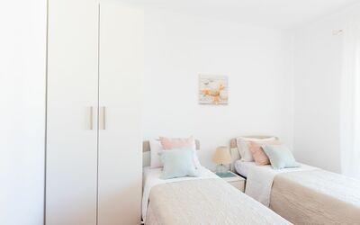 Appartamento Panorama Sul Mare: Camera da letto con due singoli