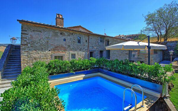 Villa Casa La Fonte in  Cortona -Toskana