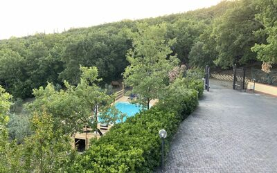 Villa Arianna - Tuscany Views: Pool View from Balcony