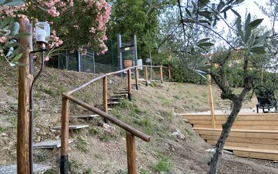 Villa Arianna - Tuscany Views: Garden Stairs