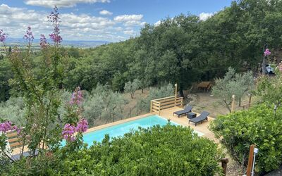 Villa Arianna - Tuscany Views: Pool Top View