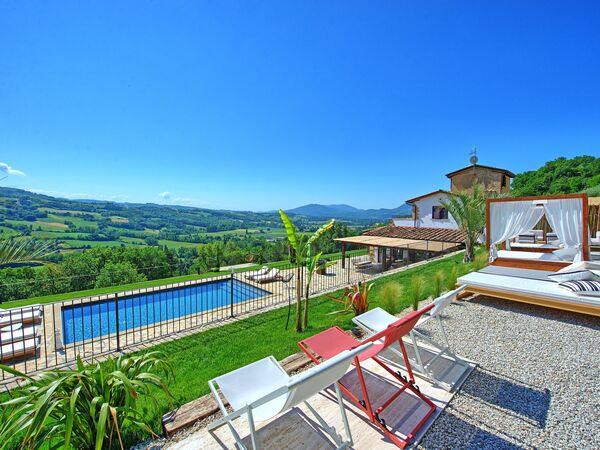 Umbrie, Montone, Villa Destino