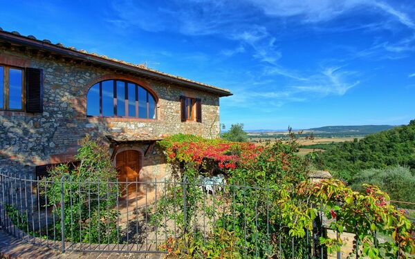 Casa Del Poggio, Villa for rent in Stigliano, Tuscany