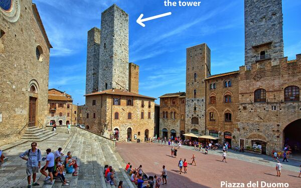 San Gimignano Tower, Holiday Apartment for rent in San Gimignano, Tuscany