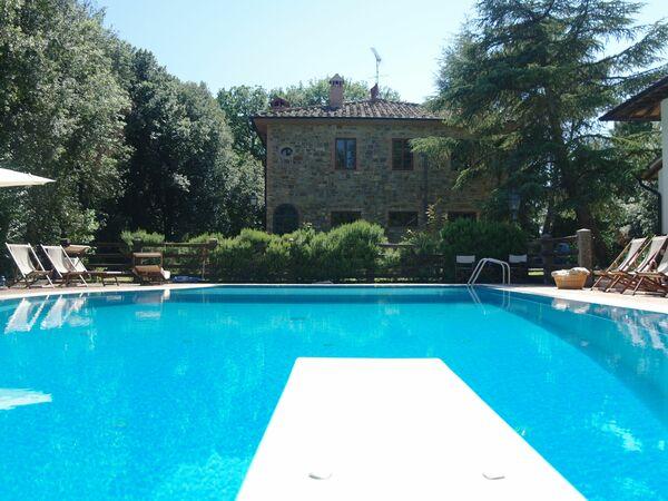 Toskánsko, Gambassi Terme, Villa Monti