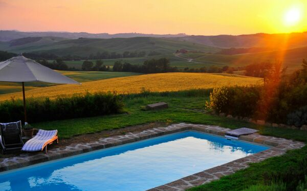Casale Orcia, Villa for rent in Pienza, Tuscany