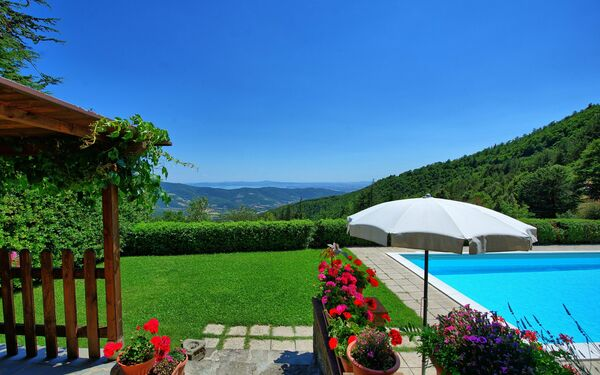 Il Salice, Villa for rent in Cortona, Tuscany