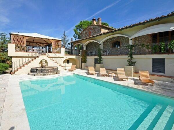 Villa Guia, Villa for rent in Montebenichi, Tuscany
